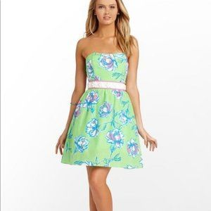 Lilly Pulitzer Langley Green Floral Beaded Dress